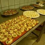 croustini et cornets parmesan